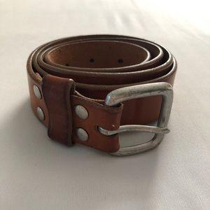 "J. Crew Light Brown Leather Belt - Size 34"""